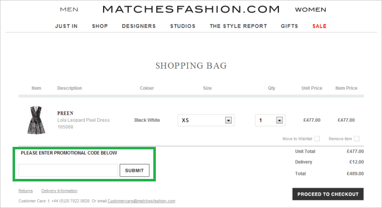 matchesfashion-com promokod